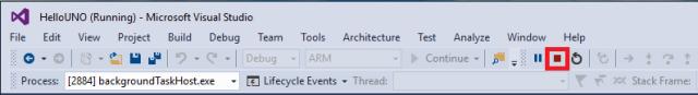 Hello UNO - Stop debugging